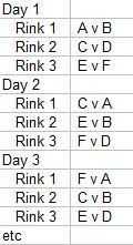 6 team schedule template